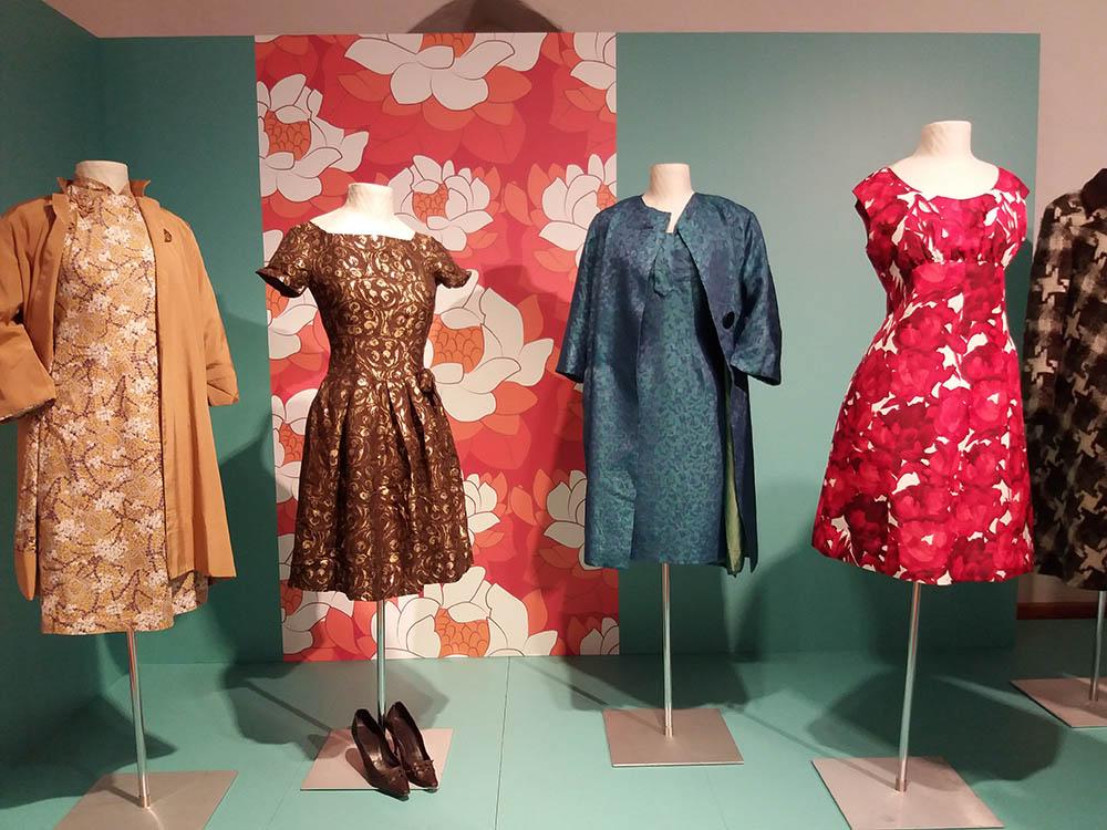 RWB Essen - Besuch des Textilmuseums in Ratingen - Ausstellung 60er Jahre Mode - Gesellschaftskleider
