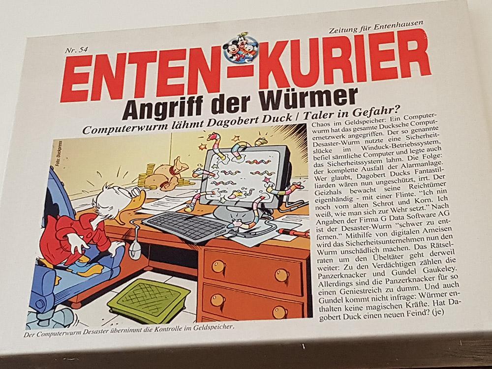 RWB Essen - Exkursion zu G Data - Ausstellungsstück im Museum der Firma G Data