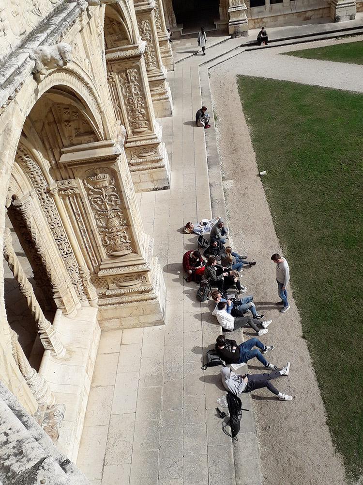 RWB Essen - Studienfahrt nach Lissabon 2020 - Zeichnen im Monasterio Jeronimos