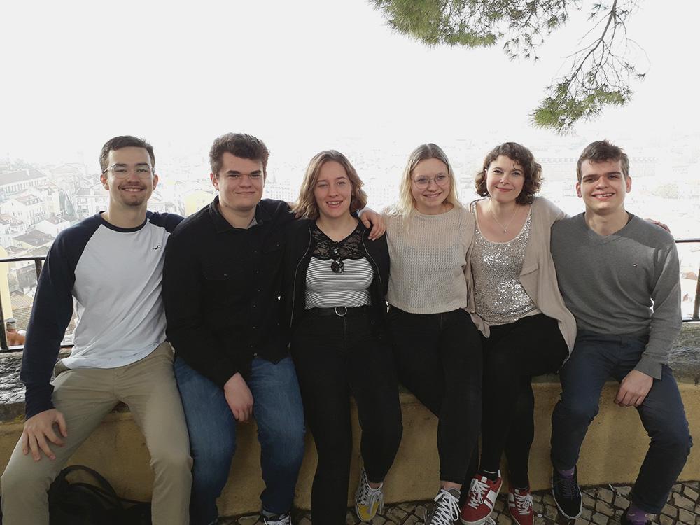 RWB Essen - Studienfahrt nach Lissabon 2020 - Gruppenbild der Klasse HAW 1-1