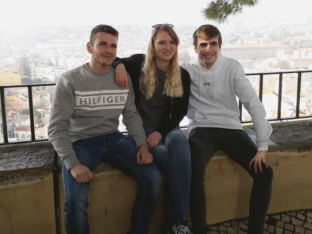 RWB Essen - Studienfahrt nach Lissabon 2020 - Gruppenbild der Klasse HAN 1-1