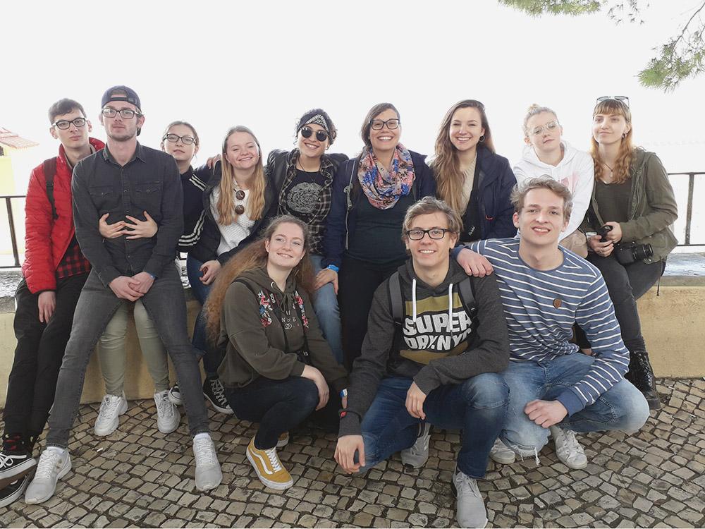 RWB Essen - Studienfahrt nach Lissabon 2020 - Gruppenbild der Klasse HAG 1-1