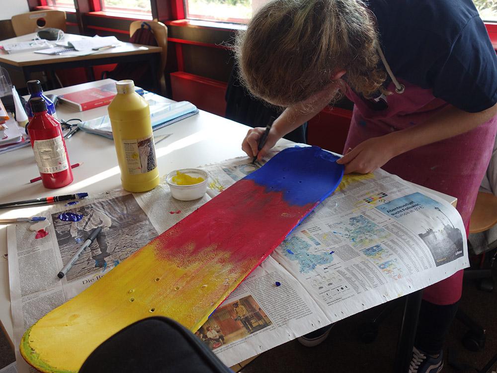 RWB Essen - Kunstprojekt - Kunst nach Keith Haring - Arbeitsprozesse der HAG 2-1