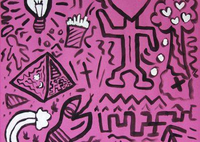 RWB Essen - Spurensuche am RWB - Kunstwerk nach Keith Haring